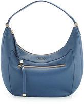 Furla Ginevra Medium Leather Hobo Bag, Indaco