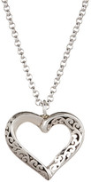 Lois Hill Sterling Silver Small Open Heart Cutout Pendant Necklace
