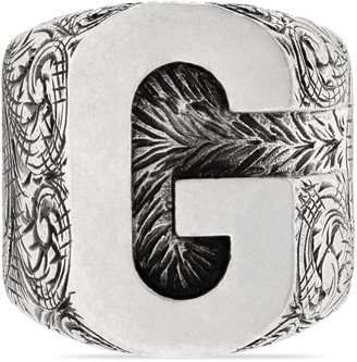 """Gucci """"G"""" letter ring in silver"""