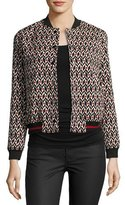 BA&SH Trish Bomber Jacket, Red/Black Pattern