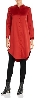 Eileen Fisher Petites Button-Down Tunic Top