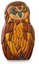 Peruvian Hand Carved Owl Sculpture, 'Wise Owl'