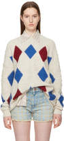 Etoile Isabel Marant Off-White Argyle Gink Sweater