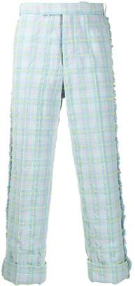 Thom Browne Multi Tattersal Seersucker Tweed Trousers