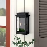 Laurèl Persil 2-Light Outdoor Wall Lantern Foundry Modern Farmhouse Finish: Black