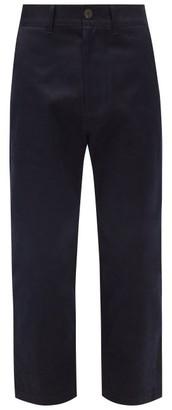 Studio Nicholson Bill Cropped Cotton-twill Trousers - Navy