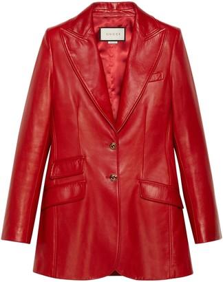 Gucci Plonge Leather Blazer
