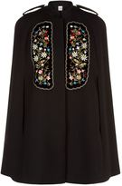 Vilshenko Eugenia Floral Embroidered Cape