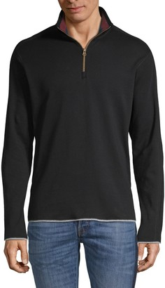 Robert Graham Elliot Long-Sleeve Cotton Sweater