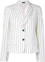 Jil Sander striped blazer - women - Cotton - 32