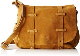 Mila Louise Bess Croute Safran Womens Cross-Body Bag Jaune (Safran) 9x20x23 cm (W x H L)
