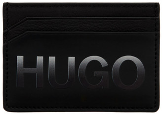 HUGO Black Gradient Logo Card Holder