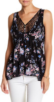 Socialite Floral and Lace Racerback Tank