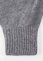 Paul Smith Men's Grey Cashmere-Blend Gloves