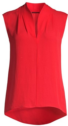 Elie Tahari Judith Sleeveless Silk Top