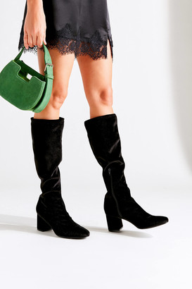 Urban Outfitters Alana Velvet Knee-High Boot
