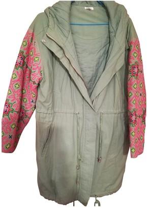 Manoush Green Cotton Coat for Women