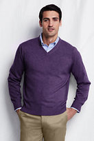 Classic Men's Cashmere V-neck Sweater-True Blue