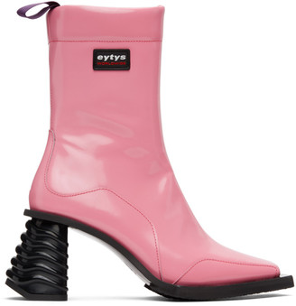 Eytys Pink Leather Gaia Boots