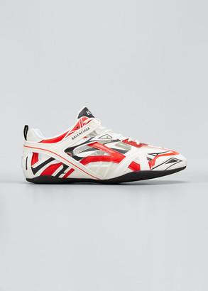 Balenciaga Men's Drive Cutout Mix-Media Sneakers