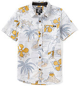 O'Neill Big Boys 8-20 Simich Printed Short-Sleeve Poplin Shirt