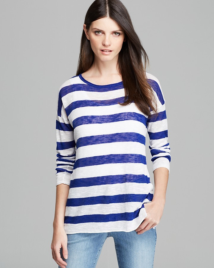 NYDJ Stripe Sweater with Ribbed Tank