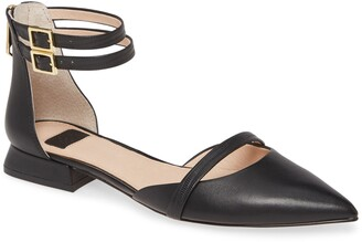 Louise et Cie Ankle Strap Pointed Toe Flat
