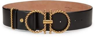 Salvatore Ferragamo Torchon Braided Gancini Buckle Leather Belt