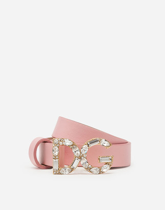Dolce & Gabbana Nappa Leather Belt With Buckle