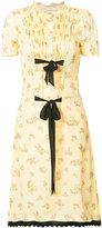 Coach printed ribbon tie dress - women - Viscose - 6