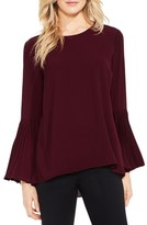 Vince Camuto Petite Women's Pleat Bell Sleeve Blouse