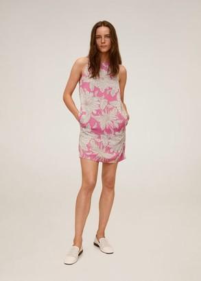 MANGO Flower print dress sand - 2 - Women