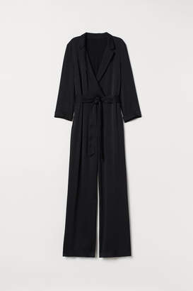 H&M Jumpsuit with a Sheen - Black