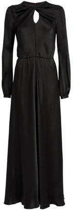 Giambattista Valli Silk Embellished Twist-Neck Dress