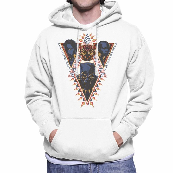Thumbnail for your product : Marvel Black Panther Nakia and Okoye Wakanda African Pattern Men's Hooded Sweatshirt