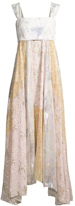 Rebecca Taylor Daffodil Metallic Silk-Blend Dress