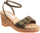Stella McCartney Cork Buckle Wedge