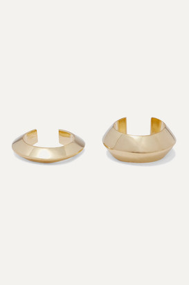 Saskia Diez Pyramid Set Of Two Gold-plated Ear Cuffs - one size