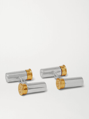 Purdey - Sterling Silver and Gold-Tone Cufflinks - Men - Silver