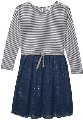 J.Crew Crewcuts By crewcuts by Dot Tulle Dress (Toddler/Little Kids/Big Kids) (Navy/Ivory/Rainbow) Girl's Clothing