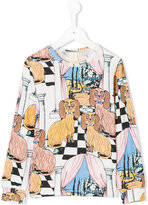 Mini Rodini Oh La La Dashing Dogs printed top