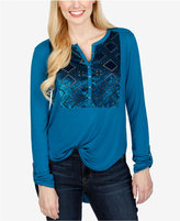 Lucky Brand Velvet Burnout Top