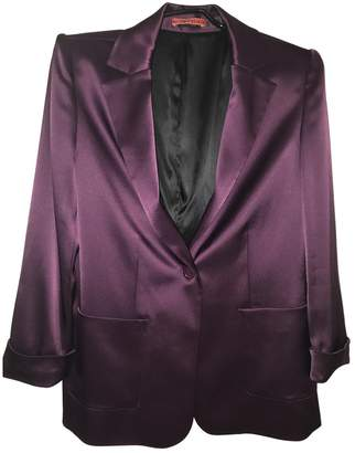 Alice + Olivia Alice & Olivia Purple Silk Jacket for Women