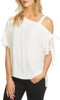 1 STATE 1.state One-Shoulder Tie Blouse