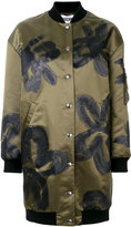 Moschino floral painted coat - women - Polyamide/Viscose/Wool - 40