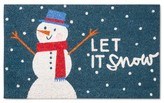 "Threshold Blue Snowman Holiday Doormat - (1'6""x2'6"