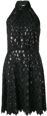 Emporio Armani Diamond Macrame Dress