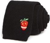 Paul Smith Strawberry Skull Knit Skinny Tie