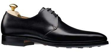 Crockett Jones Crockett & Jones Crockett and Jones Highbury Plain-toe Shoe in Black Calf
