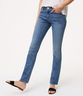 LOFT Curvy Boot Cut Jeans in Authentic Light Indigo Wash